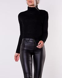 High Neck Crop Jumper Black