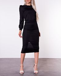 Besa Rib Dress Black