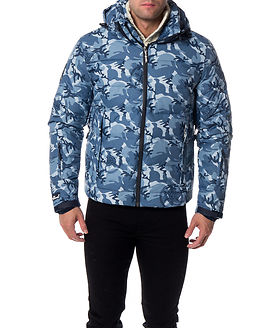 Ski Command Utility Jacket Blue Ice Camo Men