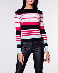 Sif O-Neck Pullover Black/Geranium