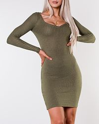Edina V-Neck Knit Dress Olivine