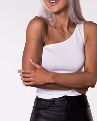 Kerry One Shoulder Top Bright White