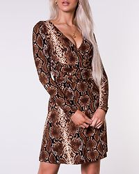 Adriana Tie Dress Animal Print