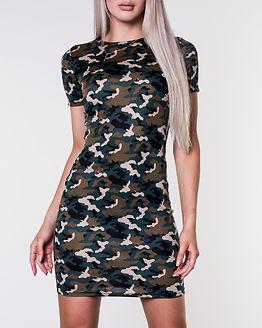 Avilla Bodycon Dress Black/Camo