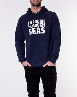 Bold Hooded Sweatshirt Navy