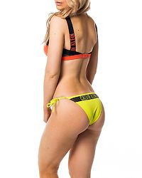 Cheeky String Side Tie Bikini Evening Primrose