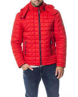 Box Quilt Fuji Hooded Jacket Sport Code Red