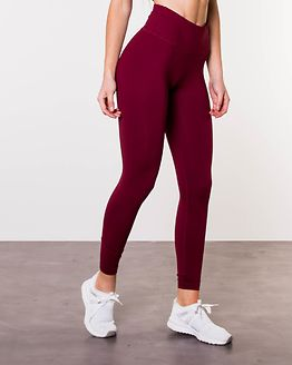 Classic High Waist Tights Burgundy