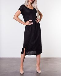Noel V-Neck Medi Dress Black