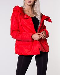 June Quilted Jacket Fiery Red