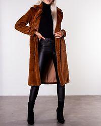 Koda Faux Fur Coat Toffee