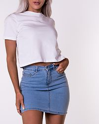 Hot Seven Short Skirt Light Blue Denim