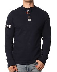 Long Sleeve Chariot Crew French Navy