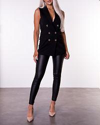 Ivy Waistcoat Black Black