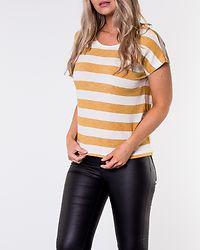 Wide Stripe Top Amber Gold/Snow White