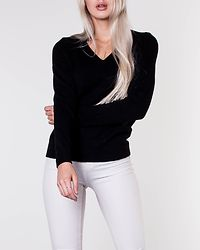 Ril V-Neck Knit Top Black