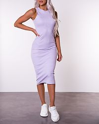 Lavender Calf Dress Pastel Lilac