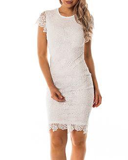 Flora Lace Dress White