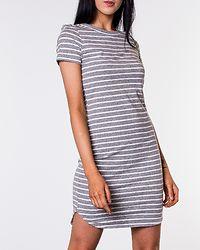 Summer Stripe Dress Light Grey Melange/Snow White