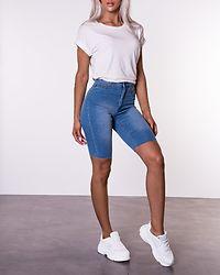 Be Callie High Waist Shorts Light Blue Denim
