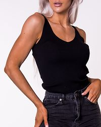 Nanna Knit Top Black