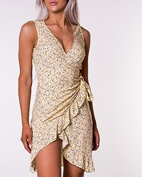 Mina Rilla Frill Wrap Dress Sunshine/Small Flower