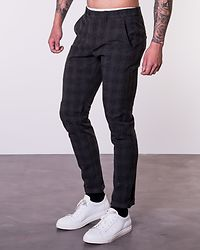 Marco Connor Check Pant Dark Grey