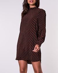 Jane High Neck Tie Tunic Black/Tortoise