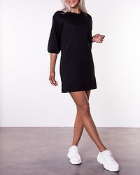 Napa 3/4 Quilted Dress Black