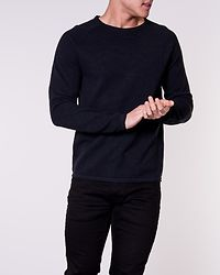Hill Knit Crew Neck Black/Twisted Navy