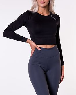 Define Seamless Crop Top Black