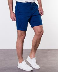 Straight Paris Shorts Navy Peony