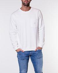 Square Pocket Sweatshirt White