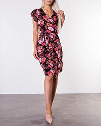 Amanda Wrap Dress Black/Patterned