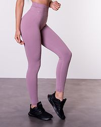 Sunset Haze Ribbed Seamless Tights Pink
