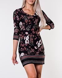 Blenda V-Neck Dress Black/Patterned