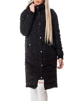 Ellen Long Hood Parka Black