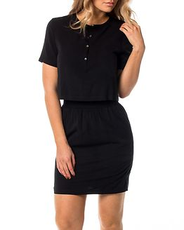 Delores Waisted Dress Black