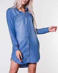 Silla Short Dress Light Blue Denim