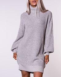 Siesta Roll Neck Knit Dress Oatmeal