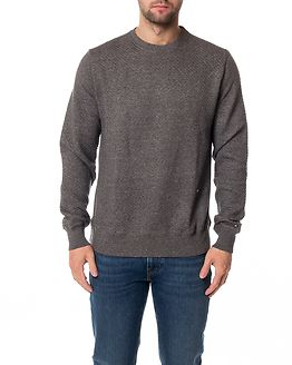 Benton Crew Neck L/S Silver Fog Heather