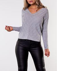 Rebecca V-Neck Top Light Grey Melange