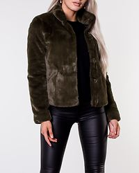 Vida Faux Fur Jacket Forest Night