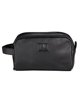Saffiano Travel Kit Bag Black