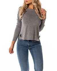 Bella O-Neck Knit Light Grey Melange