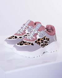 Leo Sneakers Pink/Grey/White