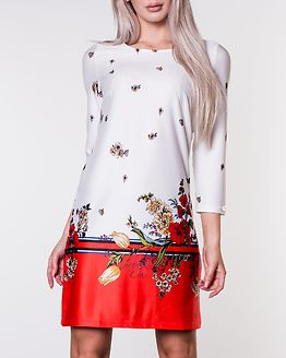 Laura Dress White/Red/Floral