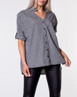 Arden Loose Checked Shirt Black/White