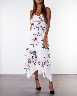 Evie Floral Print Cami Midi Dress White/Grey
