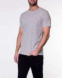 Wave O-Neck Tee Light Grey Melange